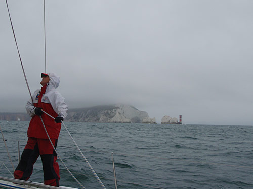 What are the Needles doing in a Cowes Week course?
